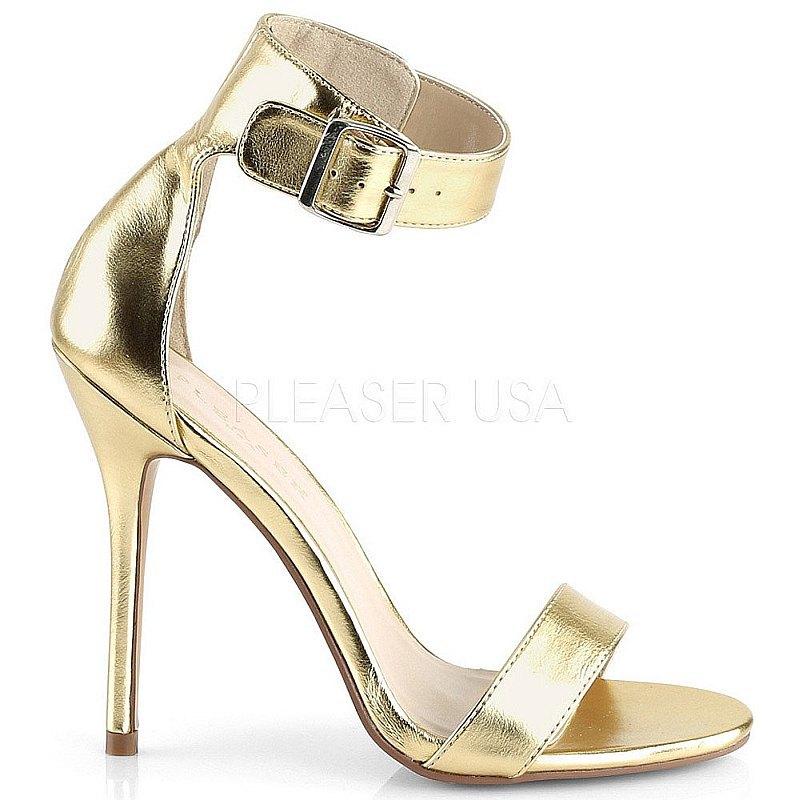 Pleaser AMUSE-10 gouden avond sandalen met hak maat 37 - 38