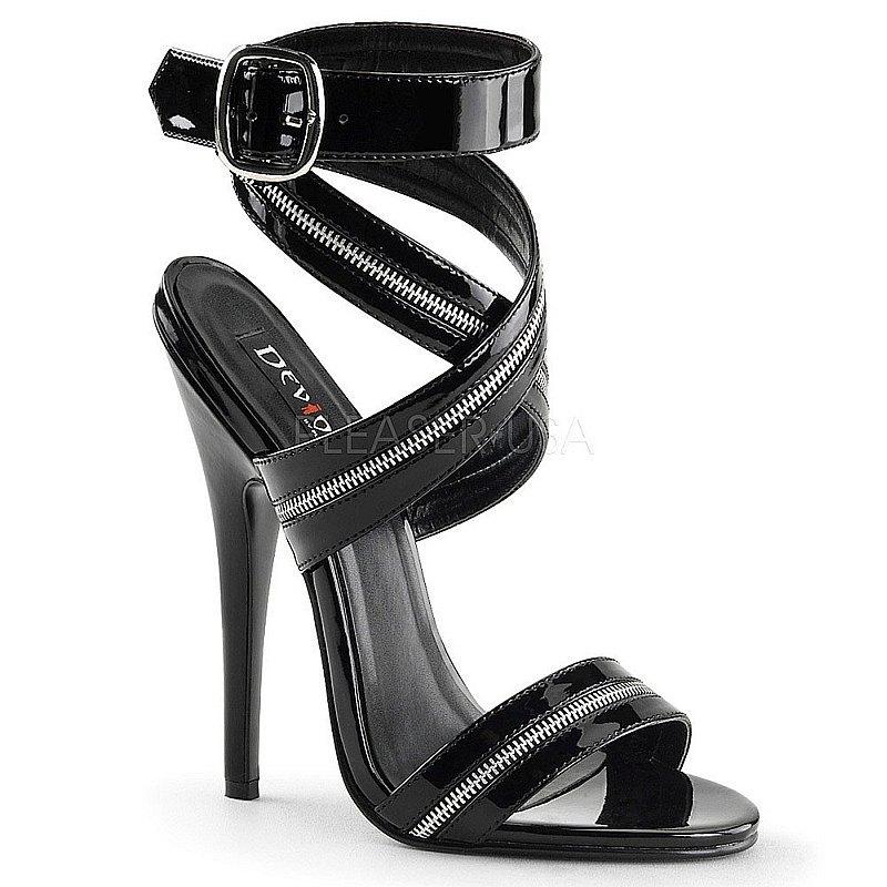 Pleaser DOMINA-119 zwarte sandalen met naaldhak maat 36 - 37
