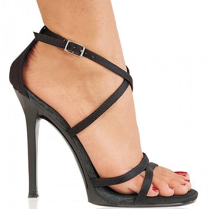 Pleaser GALA-41 satin sandalen met hoge hakken maat 35 - 36